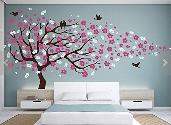 The old reader for Cherry blossom tree wall mural