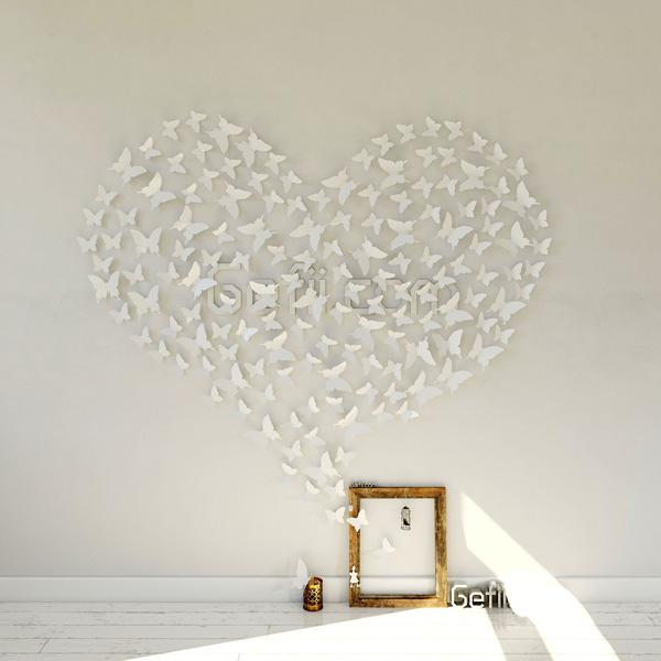 White PVC 3d Decorative Butterflies Removable Wall Art Sticker Decal Home  Wedding Decor Decoration   45 ...