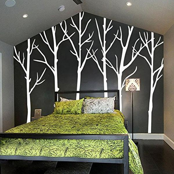 Cute Winter Tree Wall Decals Wall Stickers Living Room Wall Decals Six Tree Wall Stickers