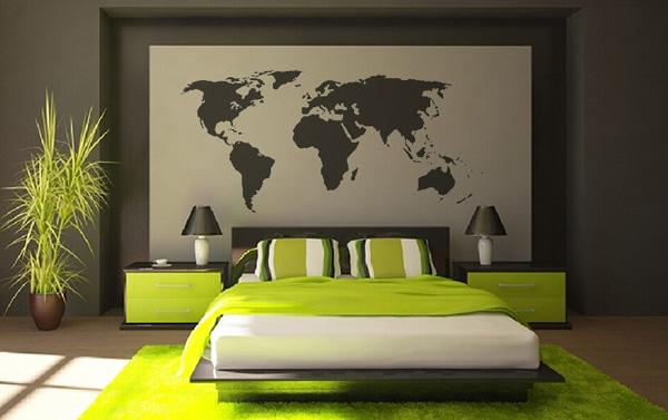 الأفكار 2014,2015 World-map-Vinyl-Wall