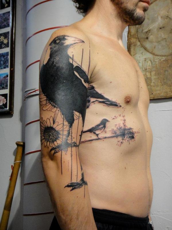 black raven tattoo-unique wo 50