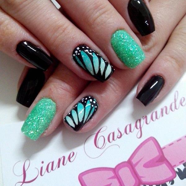 butterfly nail art-1