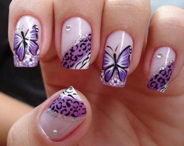 butterfly nail art-12