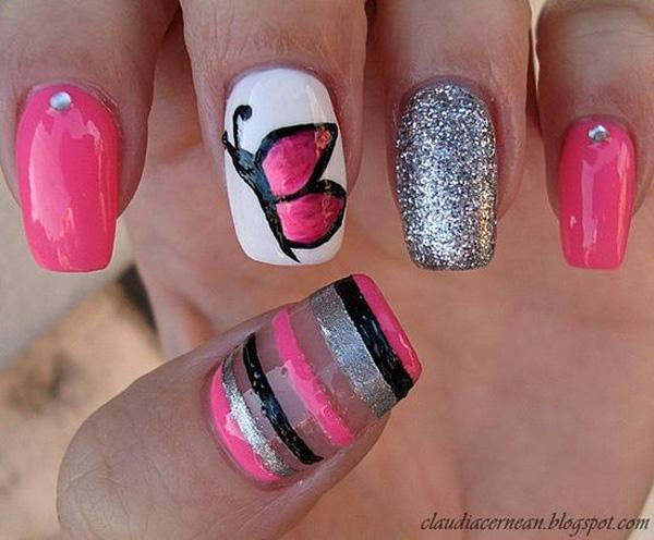 butterfly nail art-13