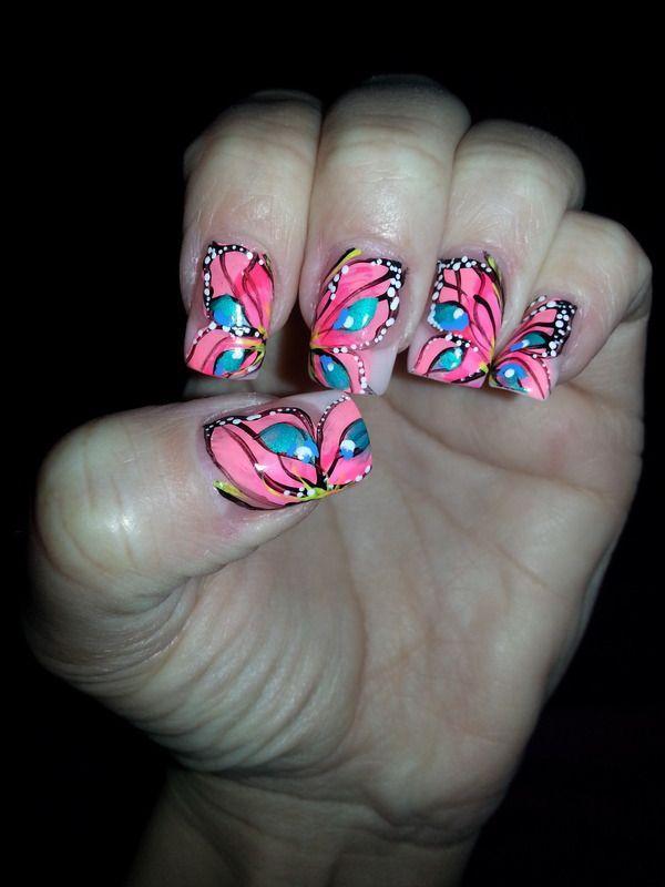 butterfly nail art-14