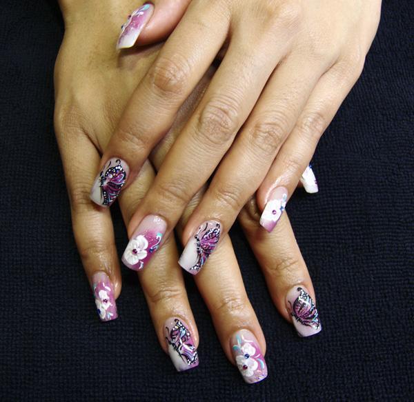 butterfly nail art-15