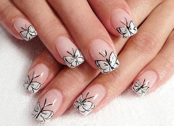 This butterfly inspired nail art is simply cute and easy to recreate. The  uniform design Pin It - 35+ Butterfly Nail Art Ideas Art And Design