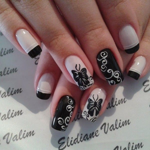 35+ Butterfly Nail Art Ideas | Art and Design