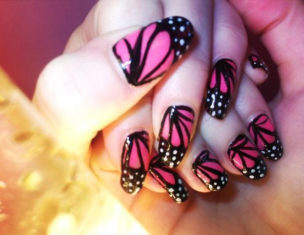 butterfly nail art-22