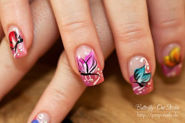 butterfly nail art-23