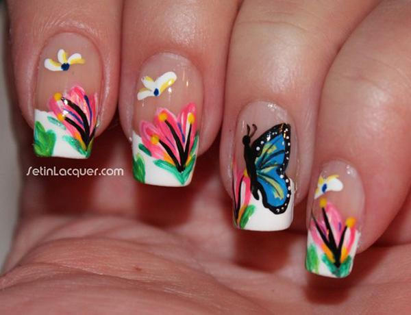 butterfly nail art-27