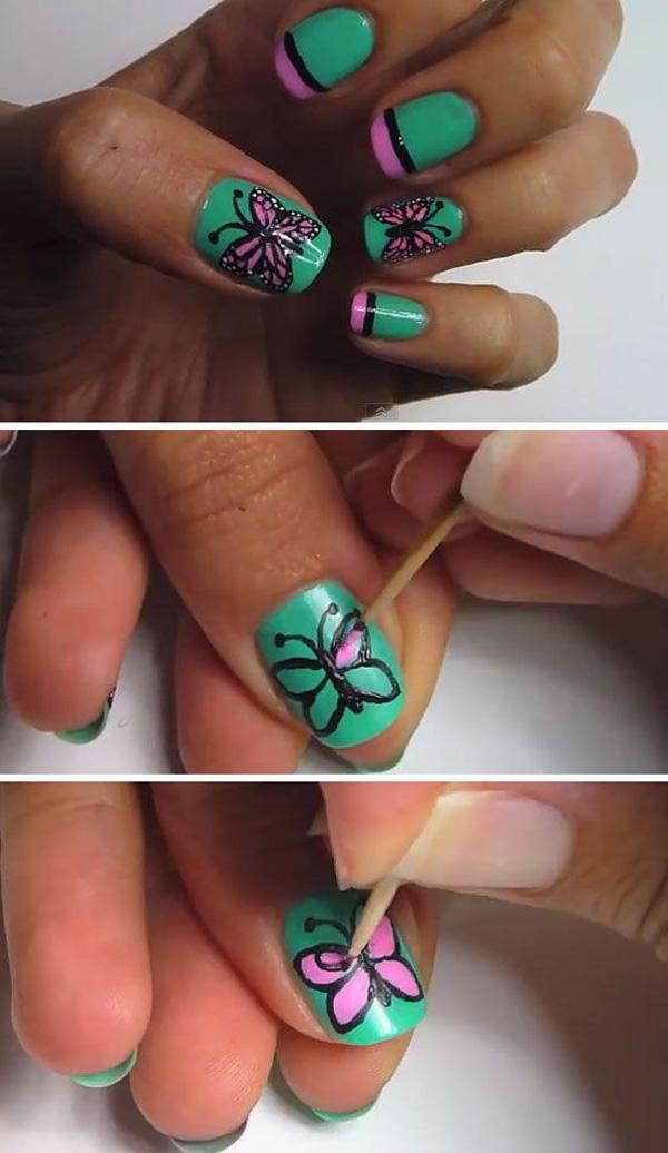 butterfly nail art-28