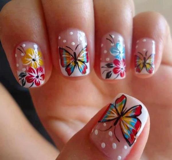 butterfly nail art-5