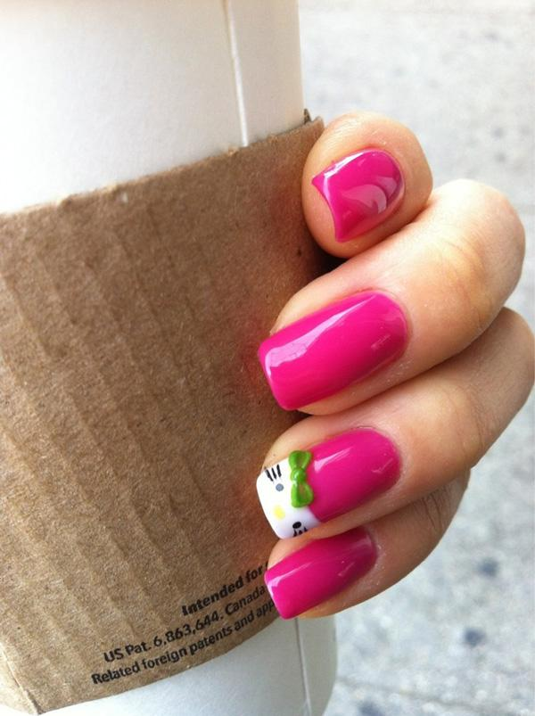 cute hello kitty nails-2