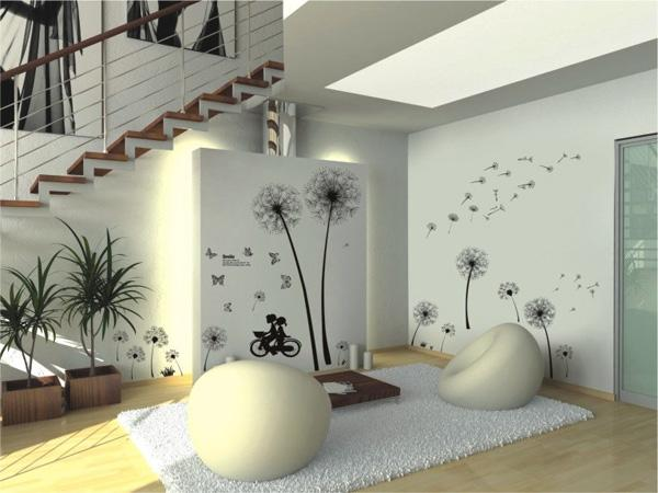 Fancy Dandelion wall decal The plant associated with imagination and wishes is the best motif