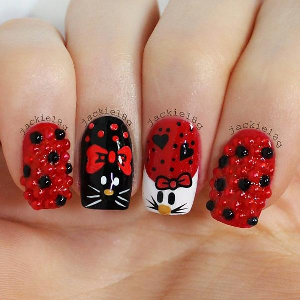 50 Hello Kitty Nail Designs | Art and Design