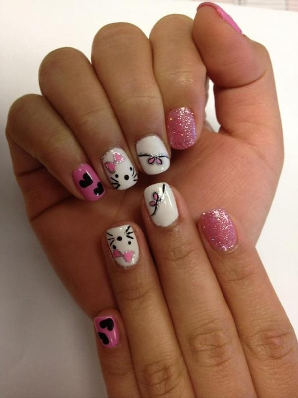 hello kitty nail-11