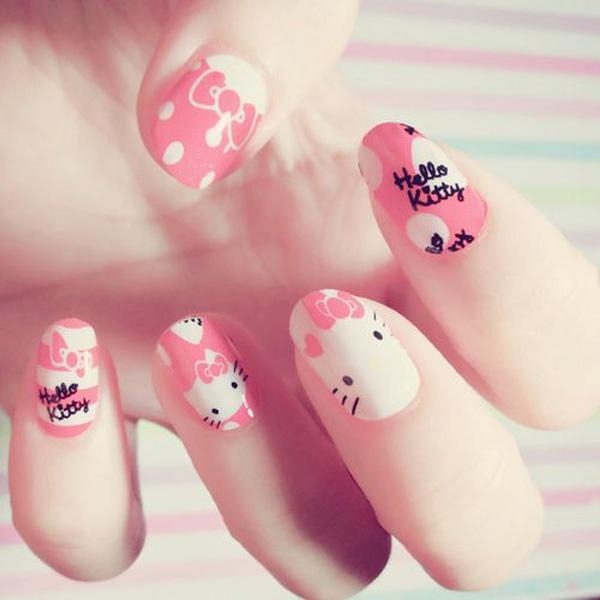 hello kitty nail-22