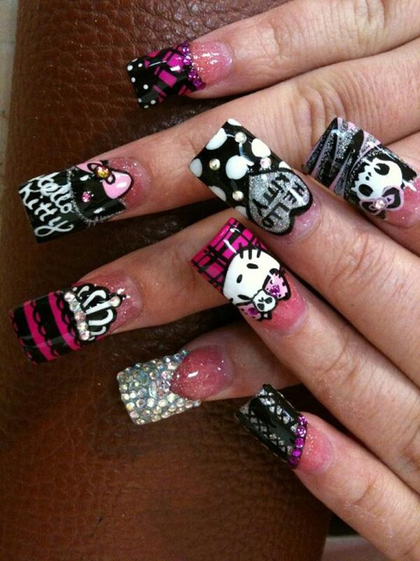 hello kitty nail-30