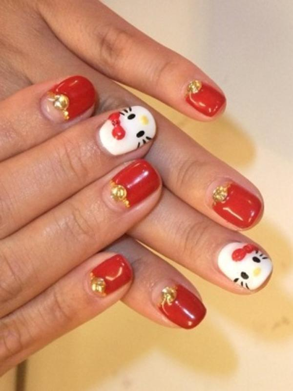 hello kitty nail-33