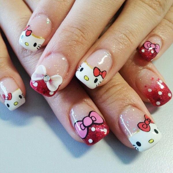 hello kitty nail-4