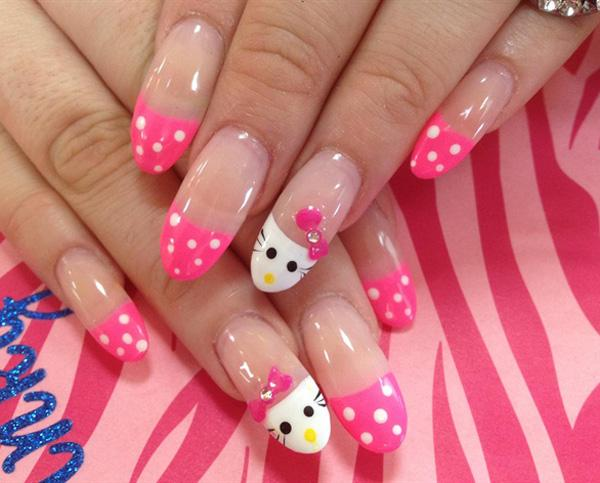 50 Hello Kitty Nail Designs Art And Design