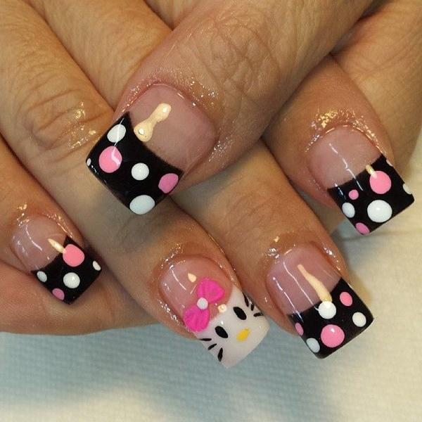 hello kitty nail-5