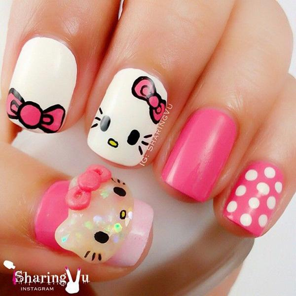 hello kitty nail-50