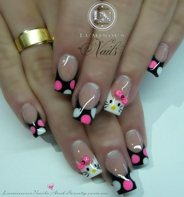 hello kitty nail-8