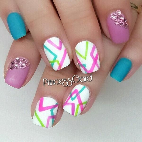 65 lovely summer nail art ideas art and design summer nail 65 lovely summer nail art ideas prinsesfo Gallery