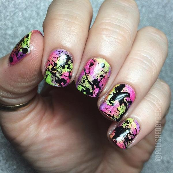 Abstract Water Marble Nail Art-26