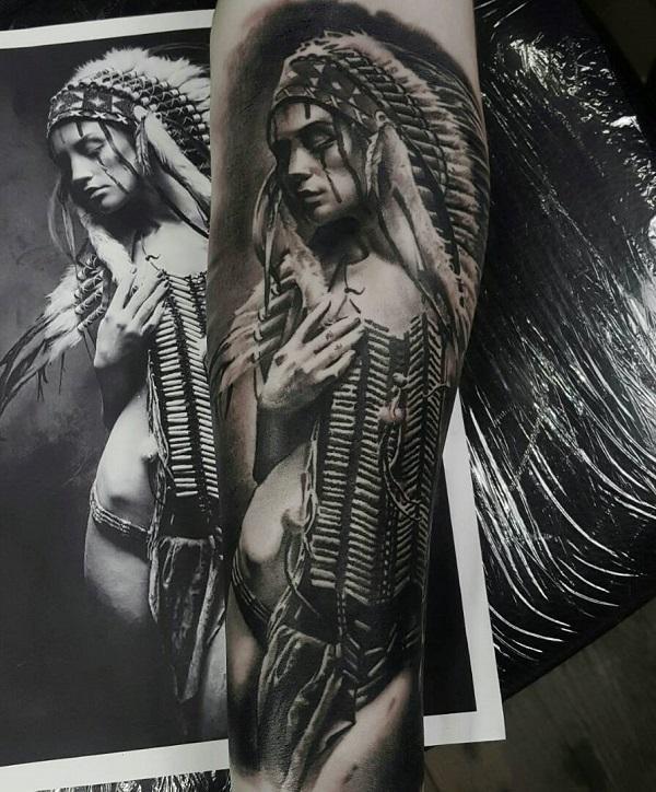 70 Indianer Tattoo Designs