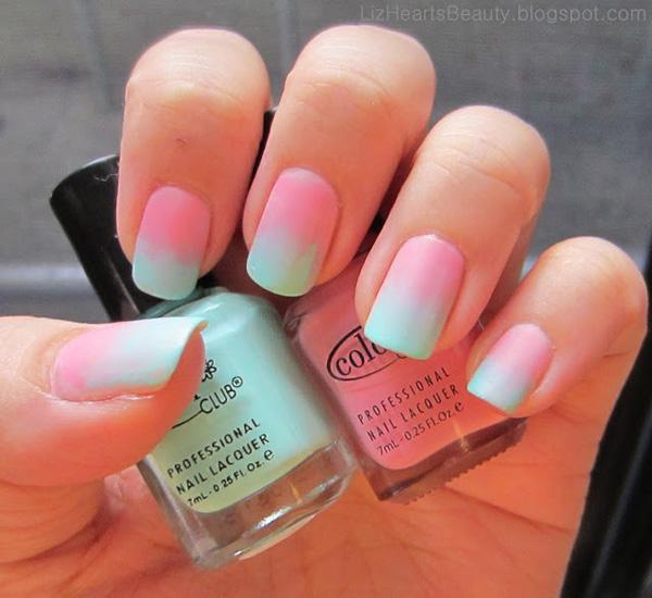 Cotton Candy Gradient Nails