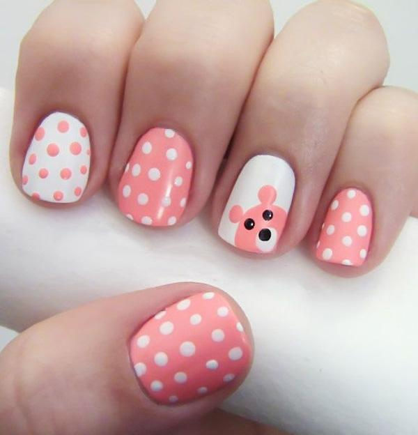 Cute and Easy  Polka Dot Nails