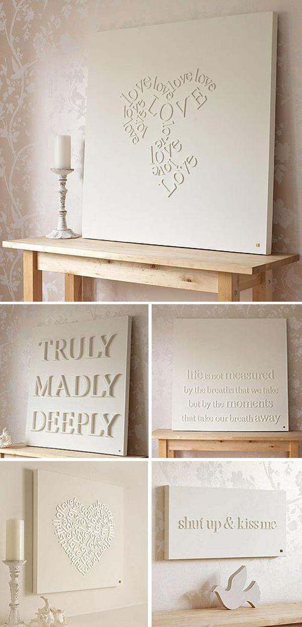 DIY - Letter Canvas Tutorial using wood letters