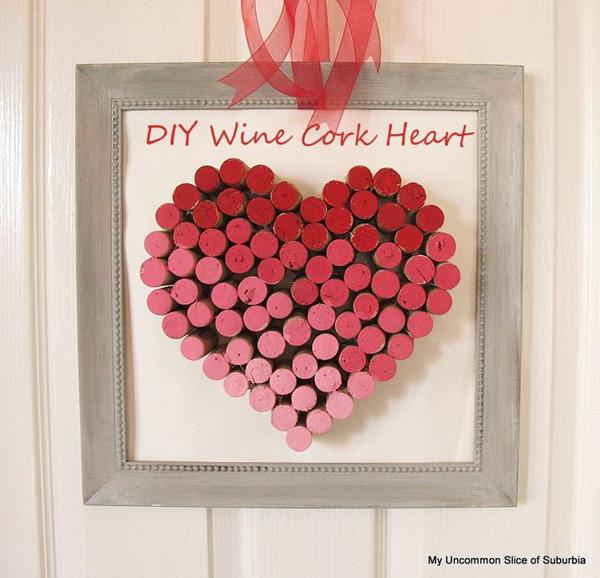 DIY Wine Cork Heart