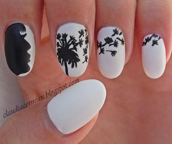 30 dandelion nail art designs art and design cover your nails in striking matte white polish as base for your dandelion nail art prinsesfo Choice Image