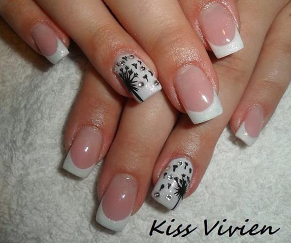 Dandelion nail art-11