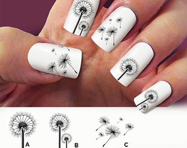 Dandelion nail art-14