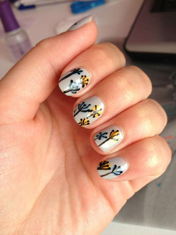 Dandelion nail art-16