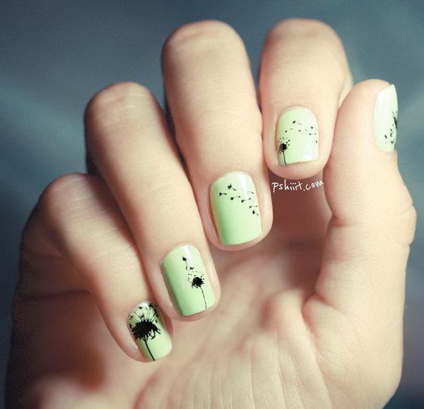 Dandelion nail art-17