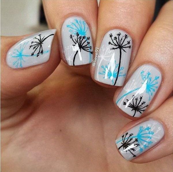 Dandelion nail art-2