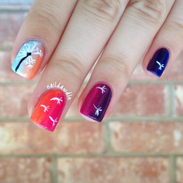 Dandelion nail art-24