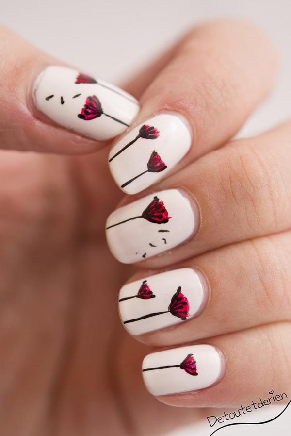 Dandelion nail art-25