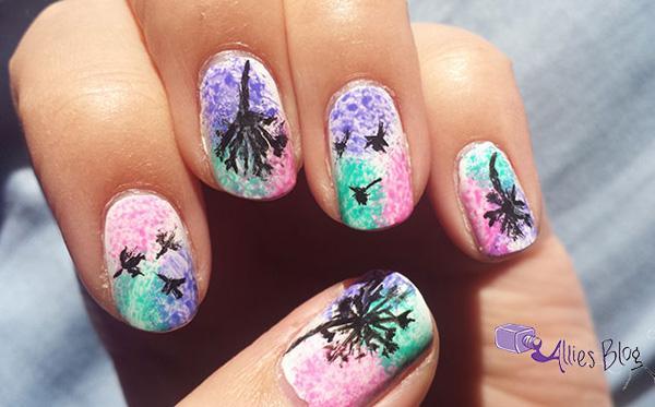 Dandelion nail art-26