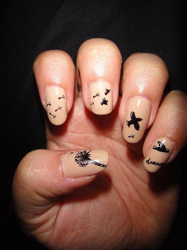 Dandelion nail art-3