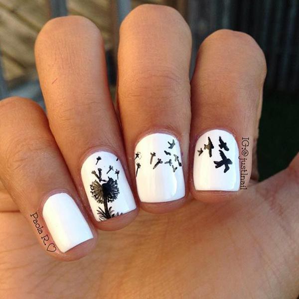 Dandelion nail art-7