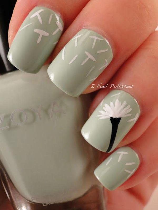 Dandelion nail art-8