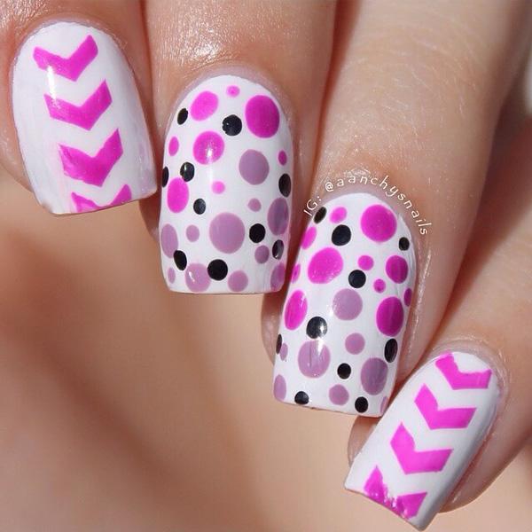 30 adorable polka dots nail designs art and design dot nail art 30 adorable polka dots nail designs prinsesfo Choice Image
