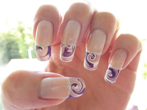 French Water Marble Manicure Nail Art-9